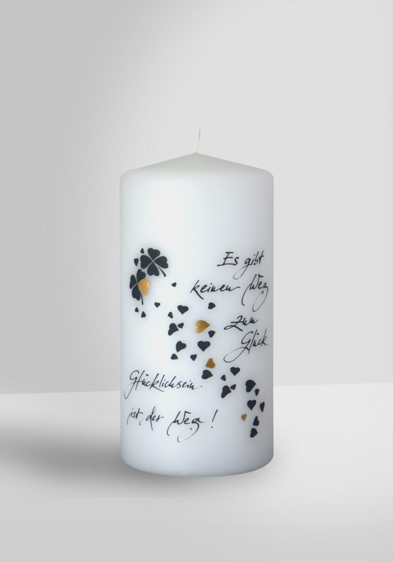 Poesie Kerze - Weg zum Glück - 2800-14070-10